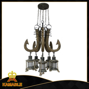 Fancy style decorative indoor wood pendant lighting (KAAD - 1168B - 5)