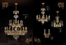 Hotel lobby huge project Brass Luxury chandelier (MD0908-20+10+5+3)