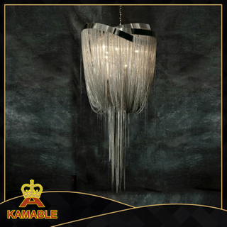 Hotel big modern design chain lamp chandelier(KA1091)
