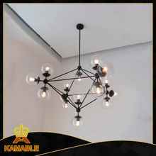 Decorative modern residential cognac glass pendant lighting (1123S-15 )
