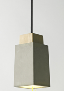 Ash wood cement pendant lights (PC3006 )