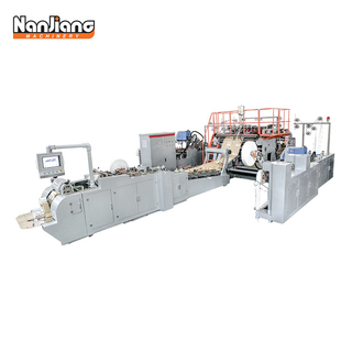 WFD-330/430/550 Roll Fed Fully Automatic Paper Bag with FLAT Handle Machine