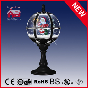 (LT30059D-HS11) Table Lamp Santa Claus Decoration Black Snow Globe with Music