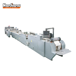 HD-430A Sheet Fed Paper Carry Bag Making Machine with top folding & bottom cardboard