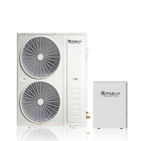 Hot Selling 15KW EVI Split Heatpump Hot Water Floor Heating Pump Max 60℃