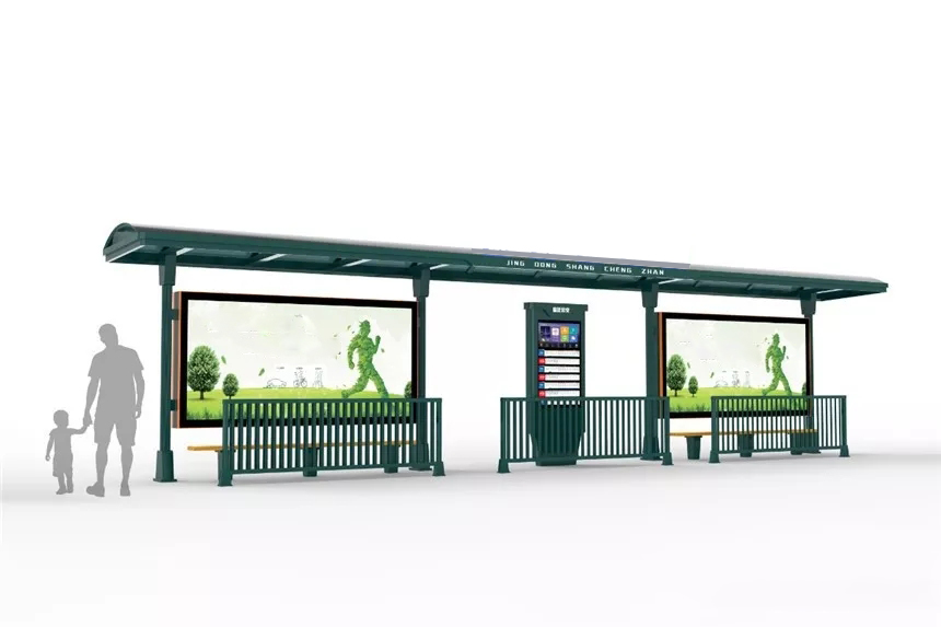 Bus Shelter Mit Werbung Light Box