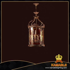 Glass Brass Luxury pendant chandelier (MD0568-4)