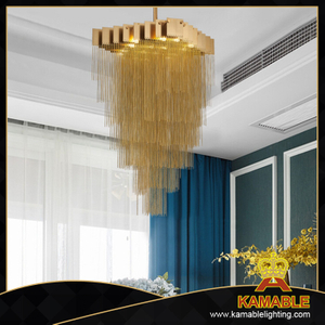 Luxury design modern chain brass chandelier (GD18158P)
