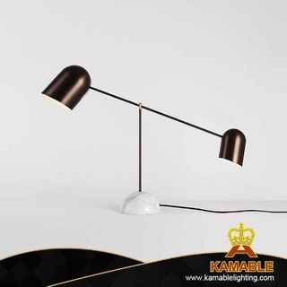 Decorative Metal Marble Base Table Lamp (KPL1822)