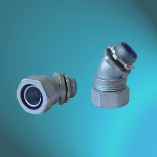 External Thread Zinc Alloy 45℃ Connectors