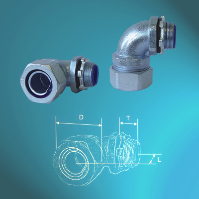 External Thread Zinc Alloy 90℃ Connectors
