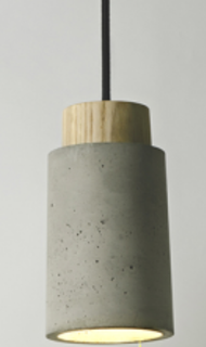 Good quality Ash Wood lampholder cement pendant lamp (PC3007 )