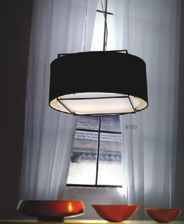 Carbon steel decorative modern indoor pendant lights with fabric shade (676S )