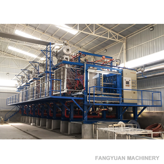 Polystyrene molding machine with vacuum for EPS box
