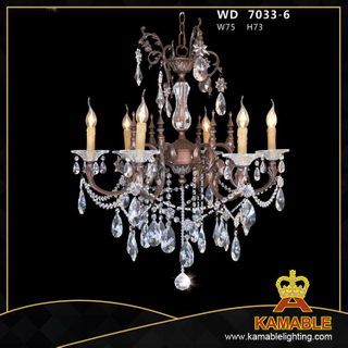 Home Brass with crystal Classical pendant chandelier(WD7033-6)
