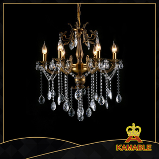 Cozy style indoor decorative cast aluminum chandelier(9124-6L )