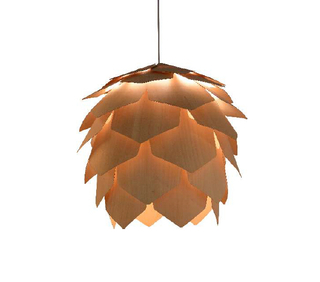 Decorative indoor pine cone style wood modern pendant lights(MD20029-430 )