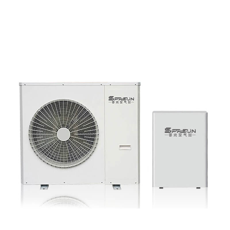 8KW 9KW Low Temperature EVI Split Air Source Heat Pump for House Heating and Cooling