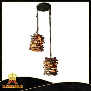 Rattan decorative indoor wood pendant lighting (KAD - 1219 - 2)