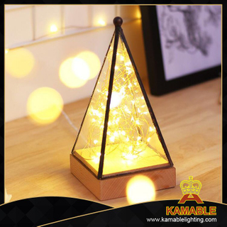 Christmas decoration wholesale cheap wood table lighting (KA-STXA)