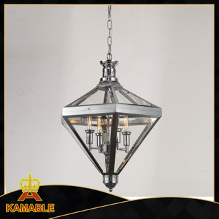 New design steel decorative lantern shape pendant light(KM0074P-4)