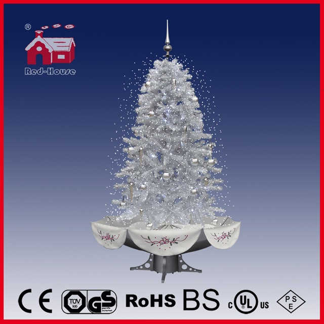 40110u190 ss wholesale beautiful pvc snowing christmas tree colorful ornaments decoration