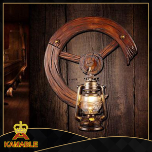 Ferris wheel style indoor decorative wood wall lighting (KAMB - 7705A)