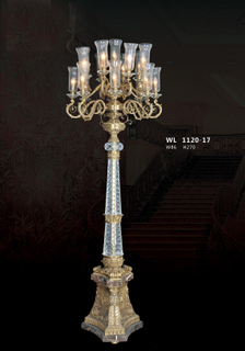Delicate design decorative brass floor lamp (WL1120 - 17)