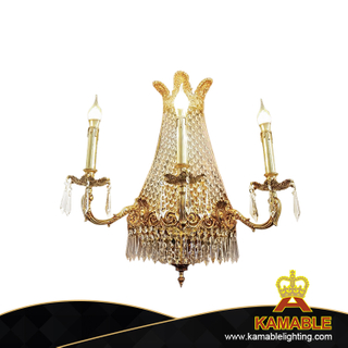 Home Decoration Crystal Brass Wall Lighting (FB-0626-3)