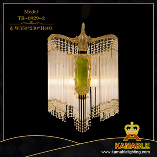 Crystal decorative home brass wall lamp (TB-0929-2)
