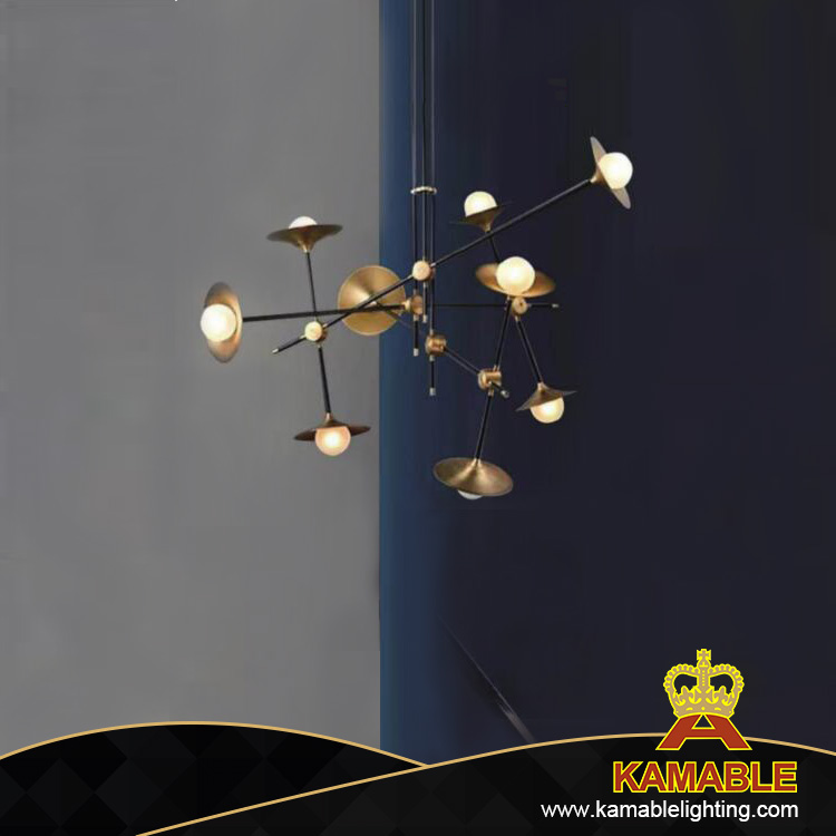 New style iron white glass bulb ceiling lamp (KA9256P/9 )