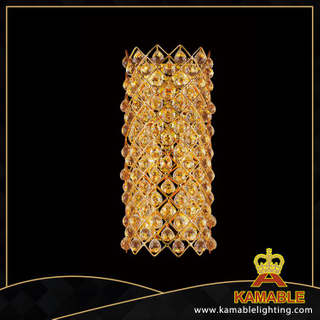 Pine-apple beads decorative crystal hotel wall lamps(YHwb2522-L6)