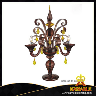 Dining room Murano white glass table lamp(80059-T3)
