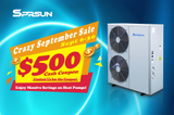 Sprsun Crazy September Sale - Get $500 Cash Coupons on Heat Pumps