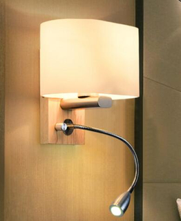 high quality wholesale wood hotel living room wall lamp (KAW1020)