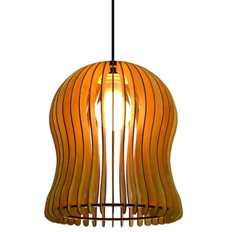 Modern Lantern Style Plywood Decorative Indoor Pendant