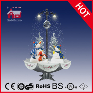 (40110U170-3S-SS) Snowing Christmas Decorations with Umbrella Base