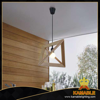 Triangular design decorative indoor wood modern pendant lights(MD20014-1)