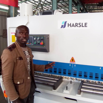 HARSLE Guillotine shearing machine feedback from Uganda