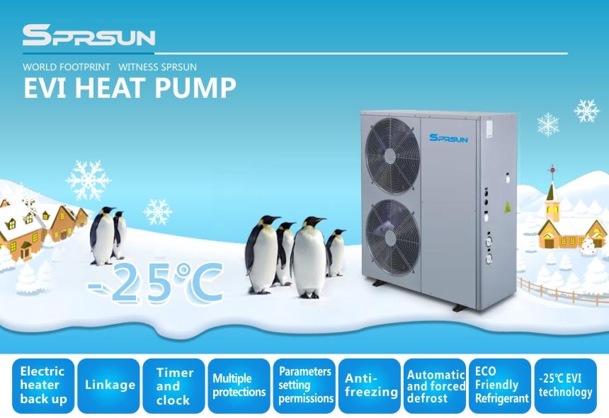 EVI Air Source Low Temp Heat Pumps