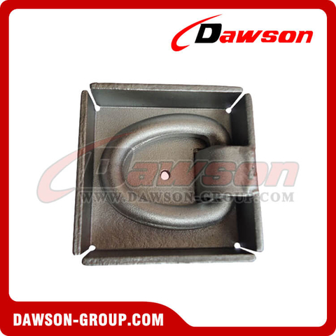 PPE-1 BS 6000kgs/13200lbs Surfaced Mounted D Ring - Pan Fitting