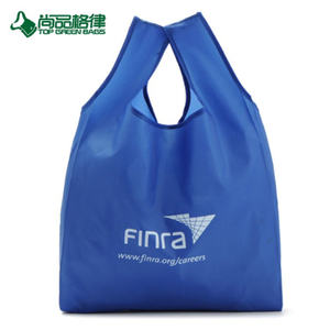 Polyester Foldable Nylon Grocery Bag Shopping Tote Bag With Seperated Pouch (TP-FB220)