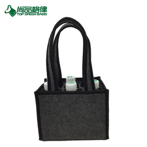 Hot Selling Felt Beer Bottle Bag Wine Bag for 6 Bottles (TP-WB107)