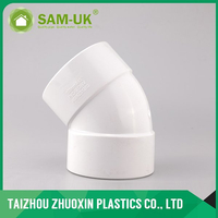 AS-NZS 1260 standard PVC DWV 45 deg elbow