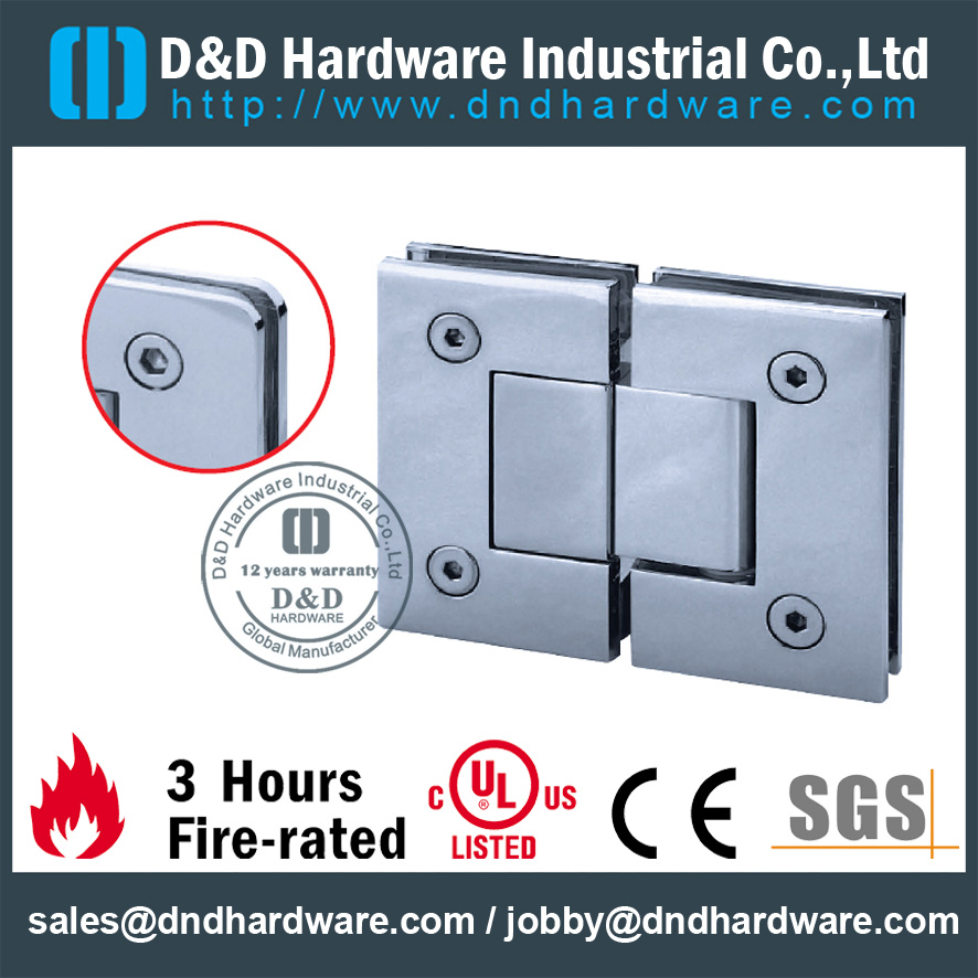 Heavy Duty Frameless Shower Door Hinges For Commercial Glass Door