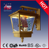 (LW40045M-J) Antique Gold Wall Light with Mini House Inside Christmas Decortaion