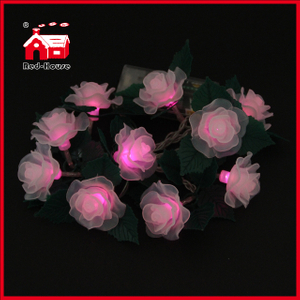 Rose and leaves String Light LED Lights LED Battery Light Christmas Holiday Decoration