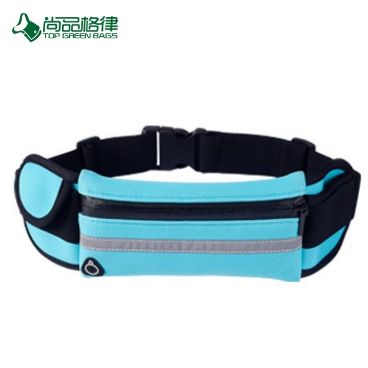 Custom Wholesale Personalized Sport Travel Waist Pouch Running Belt Elastic Waist Bag