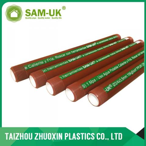 Two colors PPH threaded pipe for hot water supply