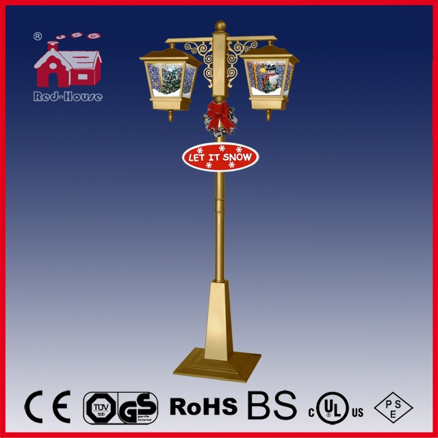(LV188-SG-JJ) Gold Double Lamp Christmas Decoration Lamp for Indoor and Outdoor